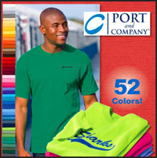 Port and Company t-shirts personalized