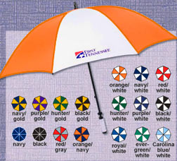 customized pro golf umbrella