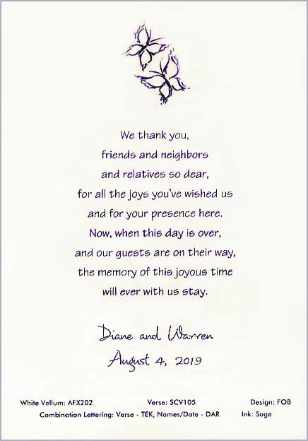 Scrolls Wedding Thank You Scrolls Scroll Favors