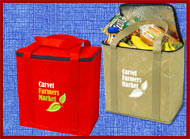 custom printed insuulated grocery tote zippered